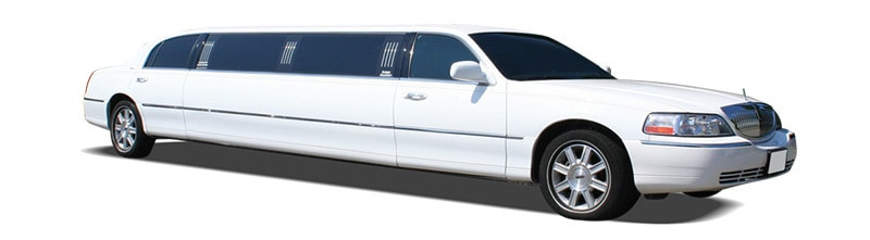 Lincoln towncar limo white