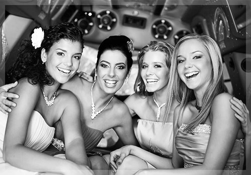 Prom Page Girls In Limo